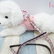 ☆[Hankaro]☆ 寵愛毛小孩粉色蝴蝶結背心胸背牽繩組(共三種尺寸)