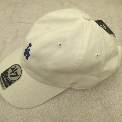 現貨 47 BRAND LA DODGERS ABATE 洛杉磯道奇 老帽 MLB LOGO 白色寶藍字