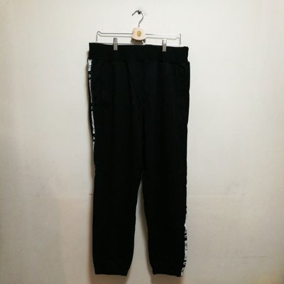 全新加大碼 BILLIONAIRE BOYS CLUB SWEAT PANTS BBC 黑色運動長棉褲 XL