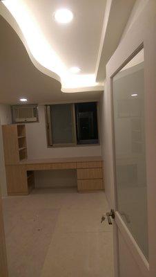 【瑞晟油漆】矽酸鈣板天花板隔間.牆面分色.水泥舊牆面整平.壁癌處理及裂縫填縫處理