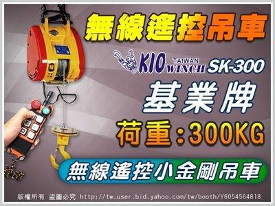 【300kg無線吊車組】300KG高樓小吊車/SK-300 /捲揚機/小金剛 鋼索/遙控電動吊車/台灣製造