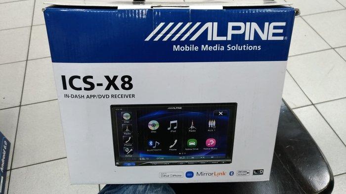 [樂克影音] ALPINE ICS-X8 7吋觸控螢幕 DVD/IPHONE/AUX/USB/APP/BT主機 公司貨