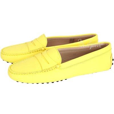 米蘭廣場 TOD'S GOMMINO MOCASSINO 經典牛皮豆豆休閒鞋(女鞋/黃色) 1440255-66