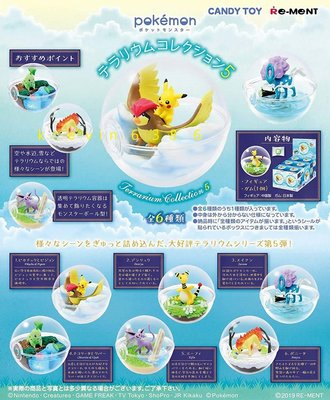 東京都-日本Re-ment盒玩-皮卡丘寶貝球盆景品第5彈(全6種)小火馬 太陽伊布