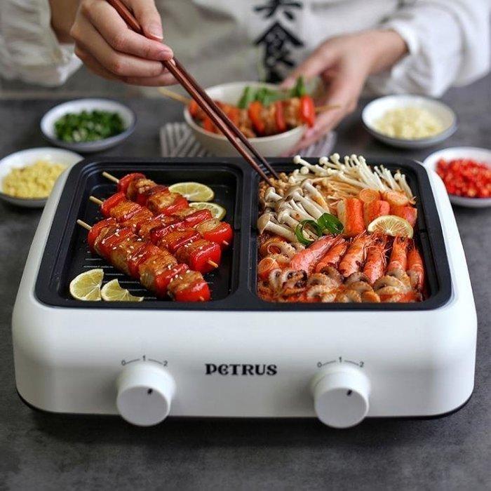 柏翠家用電烤爐多功能料理鍋韓式無煙烤肉機電動燒烤爐網紅火鍋