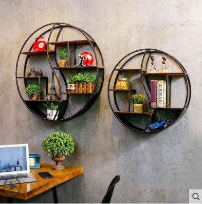『格倫雅』復古創意鐵藝工業風餐廳墻面墻上裝飾品掛件奶茶店墻壁置物架壁掛^23694