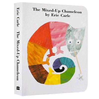 收納用品 英文原版繪本 廖彩杏書單 The Mixed-up Chameleon 拼拼湊湊的變色龍  英文版紙板書 Eric Ca@16257