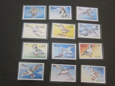 【雲品】岡比亞Gambia 1997 Sc 2011a-i 鳥禽Bird set MNH