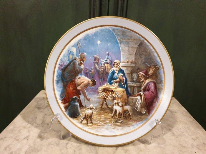【卡卡頌 歐洲古董】💖法國  LIMOGES 玫瑰利摩日 耶穌 誕生 飾盤  (老件未用)  p1805 ✬