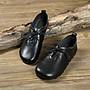 瑪麗珍鞋。繫帶平底。黑色單鞋。圓頭女鞋。36.5~37。