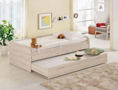 [歐瑞家具] CH165-1 塔利斯3.3尺子母床/大台北地區/系統家具/沙發/床墊/茶几/高低櫃/1元起