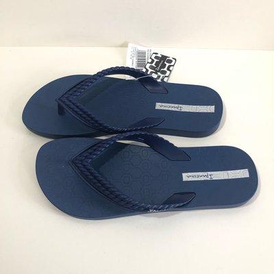 《現貨》Ipanema 女生 拖鞋 巴西尺寸33/34(純色伊帕內瑪 人字夾腳平底拖鞋-深藍色)