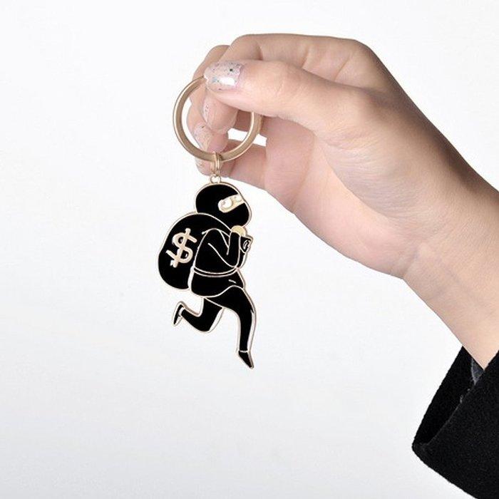 趣味小偷鑰匙圈【ZOWOO-B0161】可愛小清新zakka生日交換禮物 fun 非小鹿雜貨店正韓國史黛拉兔聖誕星巴克