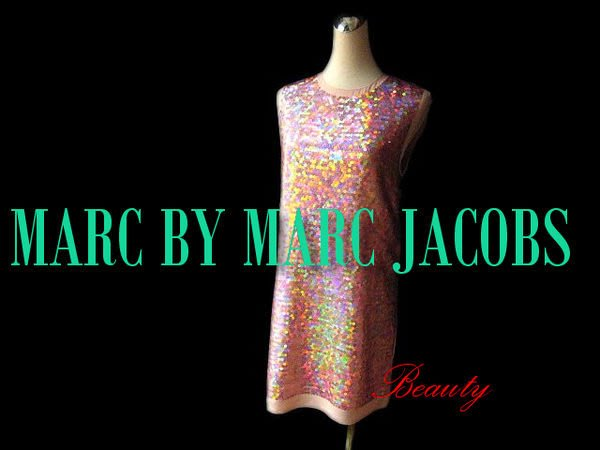 *Beauty*MARC BY MARC JACOBS 粉色亮片無袖洋裝  PARY禮服  WE14
