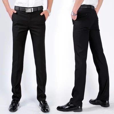 男士春季正裝西褲韓版修身直筒小腳商務休閒職業青年英倫工作長褲