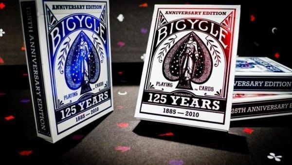 美國 Bicycle撲克牌 Bicycle125週年特別版紀念牌 ~ 復古燙金牌盒封面 ~ 古典撲克牌牌背