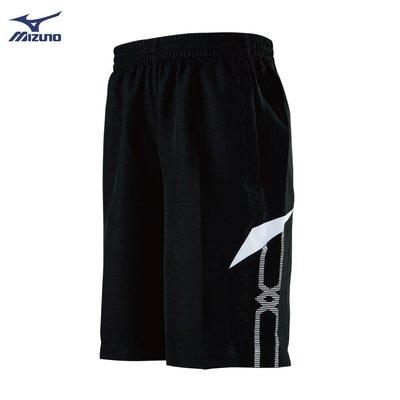 棒球世界全新【MIZUNO 美津濃】男款平織短褲 32TB950590(黑X白)特價
