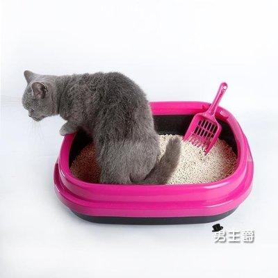 哆啦本鋪 貓砂盆衛生間如廁半封閉貓廁所貓屎盆貓盆拉屎盆貓咪清潔用品 D655