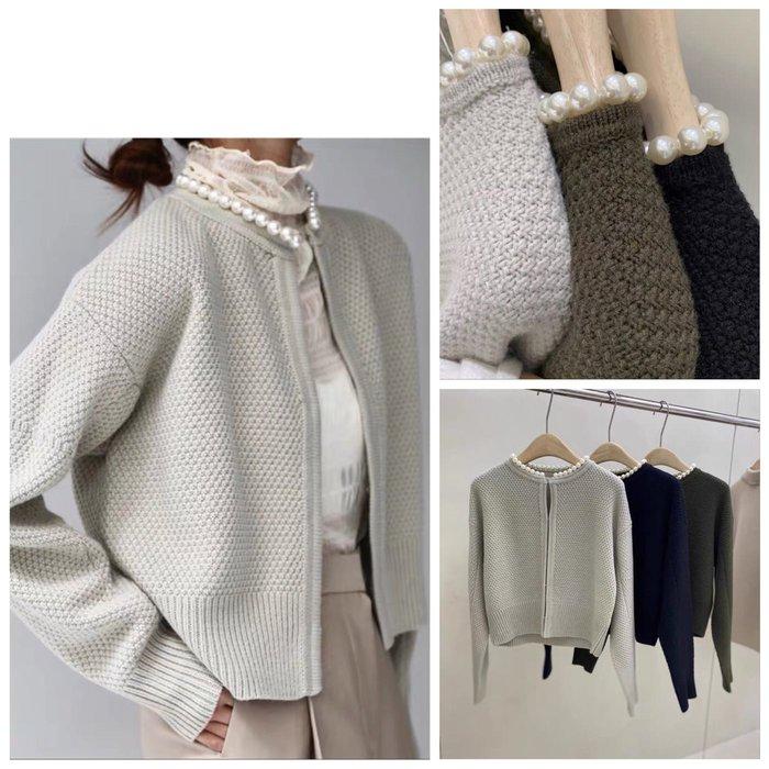 貴氣小公主🎶珍珠領 羊毛針織小外套