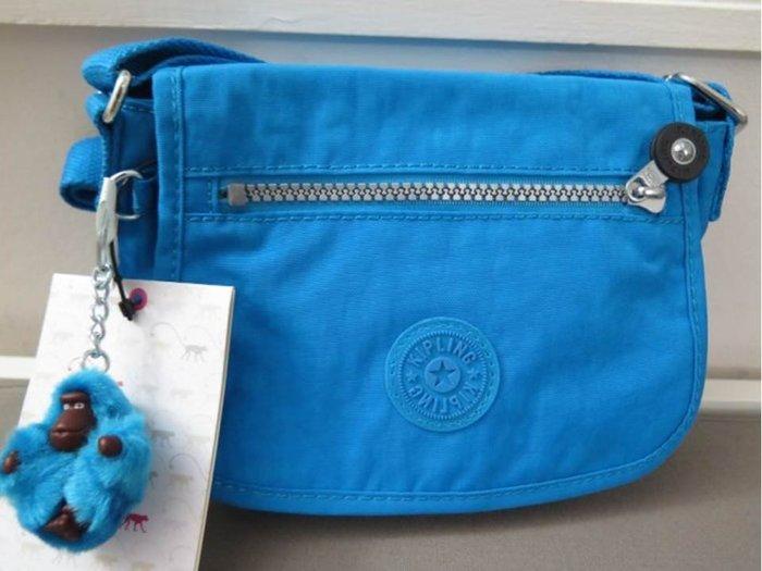 美國正品 KIPLING AC7515 新款SABIAN藍色斜背包