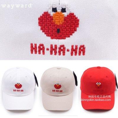 烽火運動韓國正品代購 WAYWARD SESAME 男女同款HAHAHA文字刺繡卡通帽子