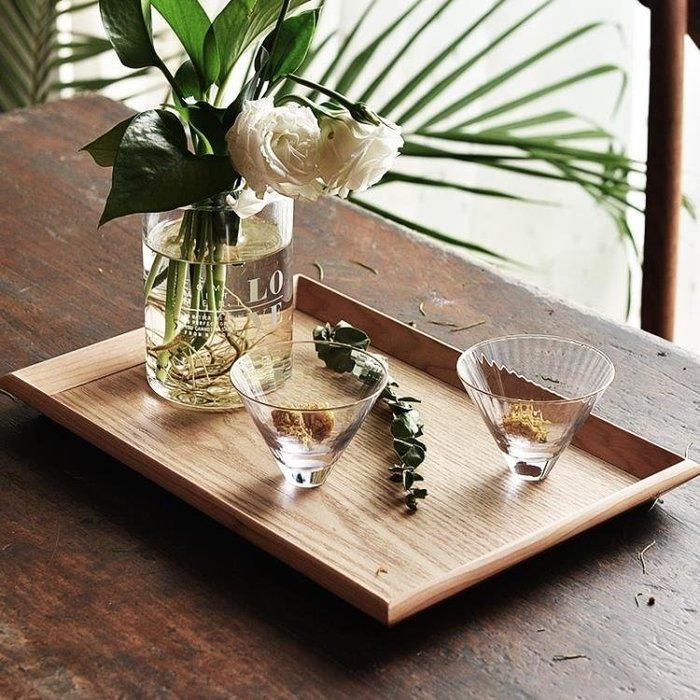 『哲原雜貨』日式木托盤家用茶盤木質長方形餐盤果盤實木面包盤收納盤/CK13999