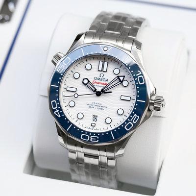 現貨可自取 OMEGA 歐米茄 手錶 機械錶 42mm 東京奧運海馬 白面藍錶圈 522.30.42.20.04.001