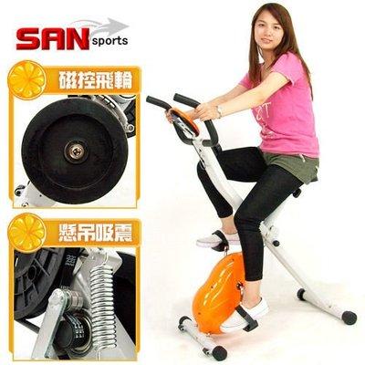 ⊙偷拍網⊙【SAN SPORTS】飛輪式MAX磁控健身車 C121-340 (室內腳踏車.有氧折疊健身車.推薦)