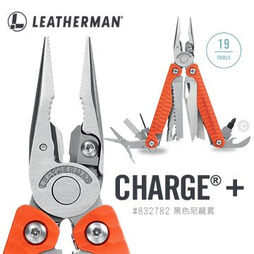 【angel 精品館 】LEATHERMAN Charge Plus 工具鉗-橘色G10柄 (附Bit組) 832782
