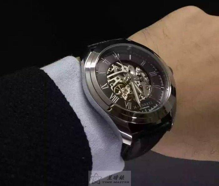請支持正貨,瑪莎拉蒂手錶MASERATI手錶POLE POSITION款,編號:MA00105,黑色錶面黑色皮革錶帶款