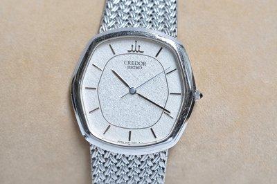 《寶萊精品》CREDOR 貴朵銀灰色石英男士錶