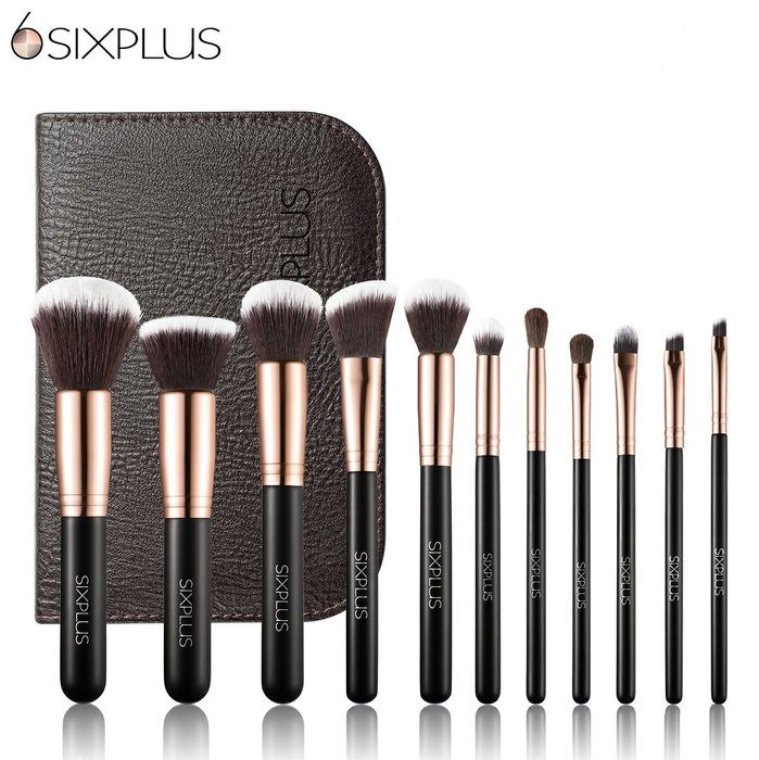 《FOS》日本 SIXPLUS 貴族 奢華 彩妝 刷具組 (11入) 修容刷 眼影刷 粉底刷 雜誌款 部落客 熱銷第一