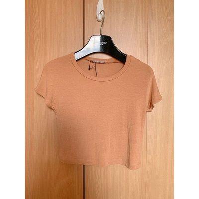 Zara good material begie tee blouse crop top shop maje sandro cos外國超靚質地杏色短袖短身襯衫