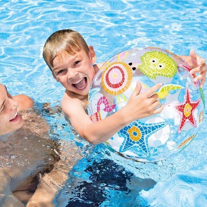 新款INTEX充氣沙灘球 兒童戲水玩具球 泳池水球手球 環保無毒 【HOLIDAY】