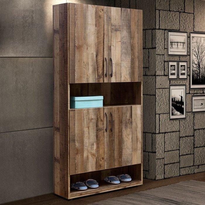 森佐木2.7尺半開放高鞋櫃 收納櫃 高櫃 置物櫃【Yostyle】SC-1836