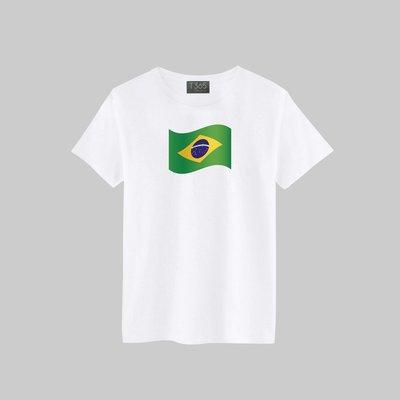 T365 Brazil 巴西 國家 國旗 飄揚 T恤 男女可穿 多色同款可選 短T 素T 素踢 TEE 短袖 上衣 棉T