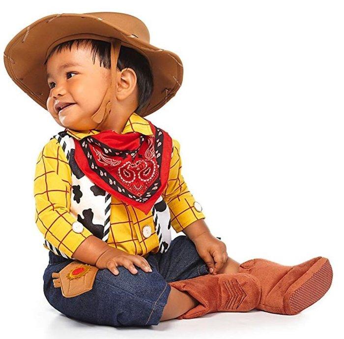 【美國大街】正品.美國迪士尼玩具總動員胡迪衣服胡迪裝胡迪嬰兒裝胡迪萬聖節裝 Woody