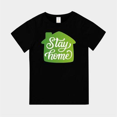 T365 台灣製造 MIT CORONAVIRUS COVID-19 STAY HOME 草綠色 親子裝 童裝 T恤 T