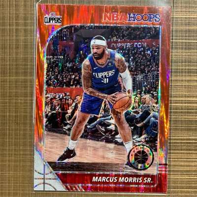 MARCUS MORRIS SR. 2019-20 NBA Hoops premium stock red prizm