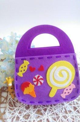〔小玩子〕兒童勞作 不織布 手提包 勞作 全現貨出貨迅速 兒童貼畫 兒童手作DIY 材料包 安親班教材