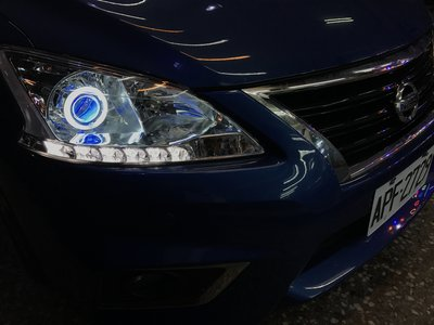 JK極光HID光圈 大燈 SUPER SENTRA AERO 近燈 魚眼+HID+秒切功能(驗車 不求人) 日產 裕隆