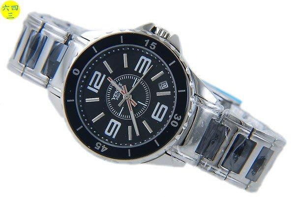 (六四三精品)VENICE(真品)真陶瓷.藍寶石水晶玻璃加不銹鋼.高檔精準錶.3.6.9.12.黑陶