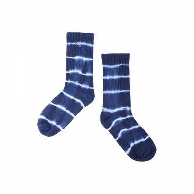 【日貨代購CITY】2018SS oqLiq AdHeRe indigo sock 自然 色落 藍染 長襪 現貨