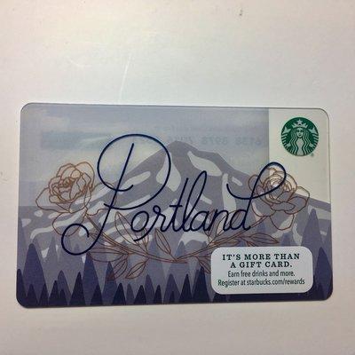 星巴克 Portland 波特蘭 2017 美國 城市 隨行卡