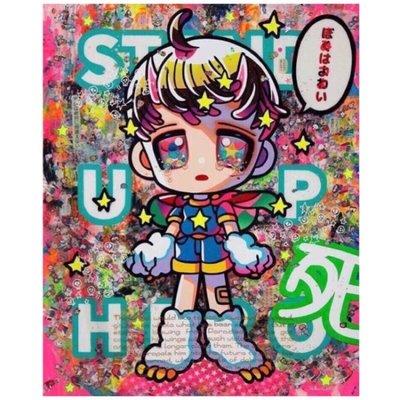 (台灣現貨)下田光 Hikari Shimoda Stand Up Hero 親簽限量版畫,全球188張