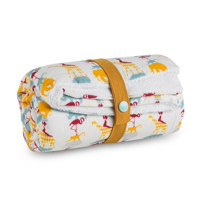 〖洋碼頭〗法國原產Carotte-Cie嬰兒毯新生兒抱毯爬行毯馬戲團動物 L3134