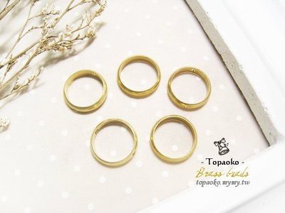 《晶格格的多寶格》實心黃銅雙孔無縫圓弧環圓圈【F7400-F7404】6/8/10/12/14mmDIY串珠材料隔珠配件