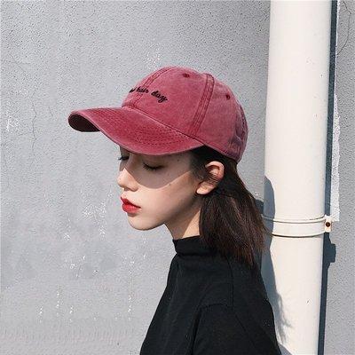 夏季必備 帽子 帽子女韓版ulzzang字母棒球帽學生休閑百搭水洗棉軟頂鴨舌帽男潮