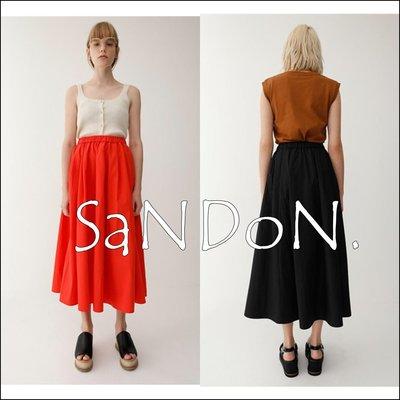 SaNDoN x『MOUSSY』基本好搭新品 不規則裙襬素色裙擺長裙 SNIDEL 韓妮 180615