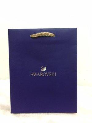 ~**粉紅魚兒**~ SWAROVSKI - 天鵝圖樣 簡約 LOGO 小紙袋 手提袋 ( 15.5x20x10 )
